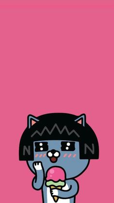 Crazy Wallpaper, Bear Wallpaper, Wallpaper Iphone Cute, Cute Wallpapers, Japanese Characters, Cute Characters, Cartoon Drawings, Cute Drawings, Kakao Friends