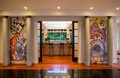 Highlight the entrance of the room with graffiti additions - Decoist