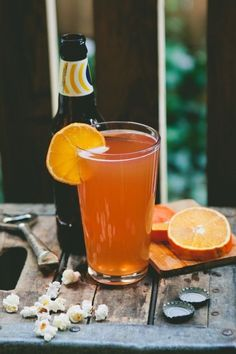 The Blood Orange Shandy & 25 other drinks that prove beer cocktails are a great idea. #cheers