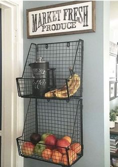 Get produce off the counter! The Best Kitchen Organization Ideas - Get produce off the counter! The Best Kitchen Organization Ideas Get produce off the counter! The Best Kitchen Organization Ideas. Kitchen Redo, Kitchen Pantry, Kitchen Dining, Organized Kitchen, Design Kitchen, Basic Kitchen, Farm Kitchen Ideas, Long Kitchen, Cute Kitchen