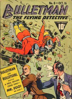 Comic Book Cover For Bulletman #8