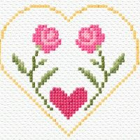 Cross Stitch Needles, Cross Stitch Heart, Simple Cross Stitch, Cross Stitch Cards, Cross Stitch Borders, Cross Stitch Flowers, Cross Stitch Designs, Cross Stitch Patterns, Embroidery Flowers Pattern