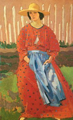 Augustus Edwin John - Dorelia by the Gate (1910)