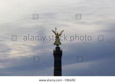 sky, air, blue, above, welkin, heaven, cloud, cloudlet, statue, imagen, bronze, sculpture, carving, sculp, column, pillar, Victo Stock Photo @alamy