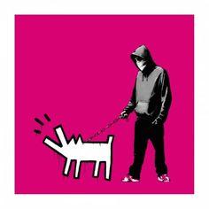 Banksy - Choose Your Weapon (Magenta) | 1stdibs.com