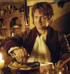 A nice, quiet meal... NOPE! Not nice. Not quiet. And he had no meal. Haha! Martin Freeman is adorable. :D