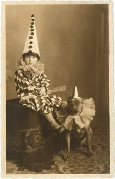 circus boy and his dog