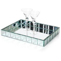 Mirage Tray - Rectangle $99.95 this would hold my perfume bottles and nice dressing table things.