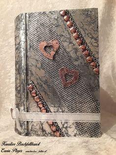 Buchcover für Hochzeitsbuch in Aluminiumdesign Notebook, Wallet, Chain, Design, Handarbeit, Creative, Pocket Wallet, Necklaces, Handmade Purses