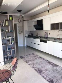 An Ankara House Blending Classic and Modern Style Kitchen Decor - Home creative ideas Kitchen Styling, Kitchen Decor, Kitchen Design, Kitchen Chandelier, Metal Chairs, Luxury Kitchens, Ankara, Kitchen Countertops, Kitchen Accessories