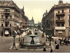Der Alltag in der Kaiserstraße in Frankfurt am Main: | Diese Fotos zeigen Dir, wie Deutschland zu einer Zeit ohne Autos aussah