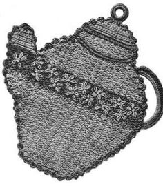Crochet Leaves Patterns with Diagrams | Free Crochet Pattern: Teapot Potholder