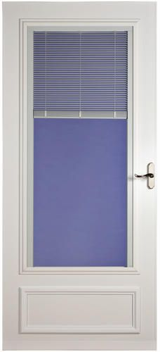 Aurora 400-17 Blinds-Between the Glass Nickel Non-Vent White Aluminum 32 in. x 80 in. at Menards
