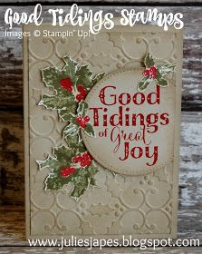 Julie Kettlewell - Stampin Up UK Independent Demonstrator - Order products 24/7: Good Tidings Stamp Set