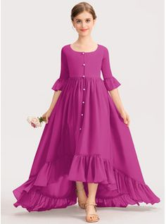 Party Gowns For Kids, Kids Gown, Girls Frock Design, Fancy Dress Design, Girls Fashion Clothes, Fashion Dresses, Little Girl Dresses, Girls Dresses, Velvet Dress Designs