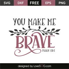 *** FREE SVG CUT FILE for Cricut, Silhouette and more *** Psalm 138:3