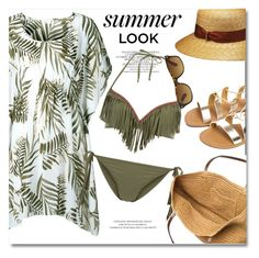 """Summer look"" by gifra ❤ liked on Polyvore featuring Borsalino, New Look and J.Crew"