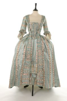Robe à la française, 1770′s  From Kerry Taylor Auctions  Fripperies and Fobs