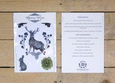 Flora & Fauna Temporary Tattoos Animal by DBIllustrations on Etsy