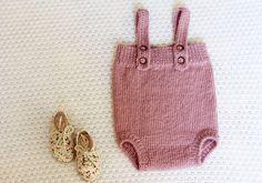 Main tricot barboteuse bébé tricoté Jumpsuit tricoté par LalaKa