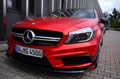 Painting The Town With A Red-Wrapped Mercedes-Benz A45 AMG From Folien Experte on http://www.benzinsider.com