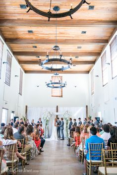 Wedding ceremony at Rosemary Beach Town Hall