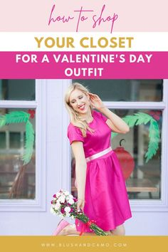 The holidays are by far a fashionista's favorite time of year! You can wear the brightest colors or the sparkliest dresses and they are totally acceptable. But, by Valentine's Day, your clothes budget may be feeling the pinch! No worries! Today I'm going to show you how to shop in your closet for the perfect Valentine's Day outfit! With my 4 tips, you'll be rocking that Valentine's look in no time! #valentinesdaystyle #shopyourcloset #hotpinklipstick