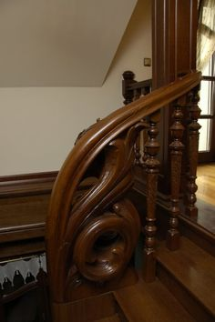 Wood Carved Stair Rail