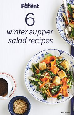 These easy, healthy winter salads will keep your family warm and well-fed through the cold months ahead. Quick Pasta Recipes, Yummy Chicken Recipes, Yum Yum Chicken, Quick Easy Meals, Easy Dinner Recipes, Soup Recipes, Salad Recipes, Healthy French Toast, Winter Salad