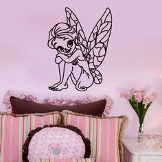 Butterfly Fairy Wall Decal for girls bedroom