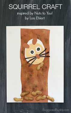 Squirrel Craft for Kids Based on the Story, Nuts to You! by Lois Ehlert~BuggyandBuddy.com