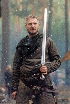 "Liam Neeson as Godfrey of Ibelin in Ridley Scott's action epic \""Kingdom of Heaven.\"""