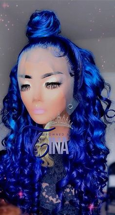 Green Hair, Blue Hair, Weave Hairstyles, Pretty Hairstyles, High Fashion Hair, Curly Hair Styles, Natural Hair Styles, Lace Front Wigs, Lace Wigs