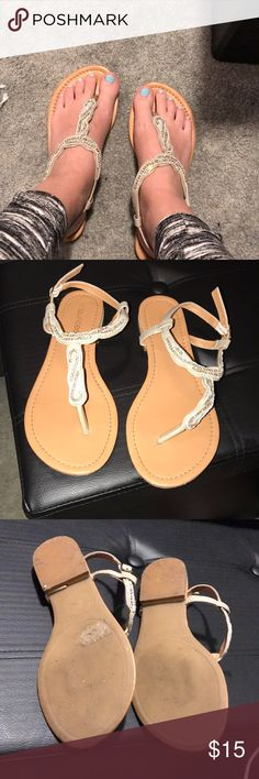 Maurice's sandals Very cute! Only worn once for prom. Great condition! Maurices Shoes Sandals