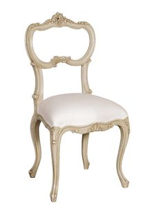 white+chair | White colonial dining chair picture