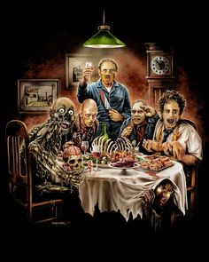 Cannibal Thanksgiving HANNIBAL LEATHERFACE TARMAN BUB C.H.U.D. PLUTO from THE HILLS HAVE EYES