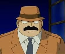 Inspector Megure (#2) - He is the detective of the police force and relies on Shinichi to solve crimes. But with the disappearance of Shinichi, he comes to rely on Kogoro Mouri, whom he once thought was an idiotic detective. Seiyuu: Rin Chafuu