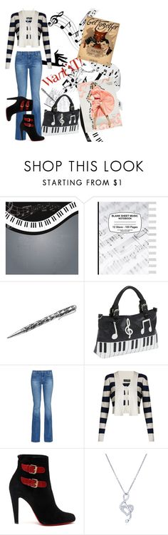 """""""Bit Of A Tune"""" by poetic-flame ❤ liked on Polyvore featuring Music Notes, NOVICA, Ashley M, M.i.h Jeans, Dolce&Gabbana, Christian Louboutin and BERRICLE"""