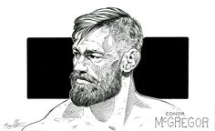 Conor McGregor (pen drawing) by theonlybriman47 on DeviantArt