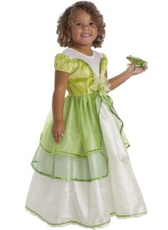 This finely detailed Princess Tiana Dress Up Costume Replica will become an instant favorite to your girl's princess dress collection. Girls Dress Up, Dress Up Outfits, Dress Up Costumes, Girl Costumes, Flower Girl Dresses, Halloween Costumes, Disney Halloween, Halloween Ideas, Princess Tiana Dress