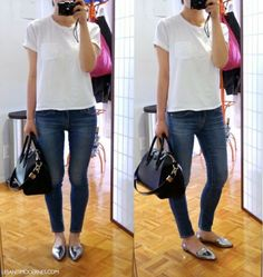 les anti-modernes*: d'orsays, basic jeans, and a really well-fitting tee. Love it.