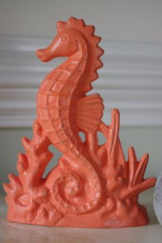We love our seahorse doorstop! Its even beautiful used on a tabletop just as a sea decor item. It will hold up books or keep your door open