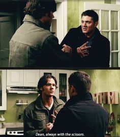 What if Dean plays rock ,paper, scissors so Sam wouldn't feel guilty or angry that Dean won't let him do something dangerous so he always chooses scissors so Sam won't have to do whatever dangerous task they have to do.