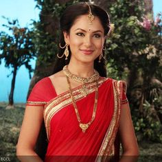 Jewelry, Saree: #Pooja_Bose as Lord Shiva's wife Parvati in TV Series 'Devon Ke Dev...Mahadev', via @sunjayjk Indian Fashion