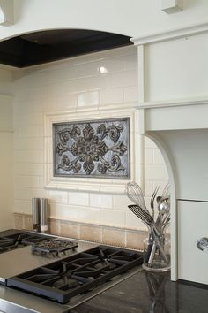Excellent Sanoma Tiles Backsplash: Fascinating Cumbria From Sonoma Insert Nickel Finish At Traditional Kitchen With Nickel Finish Sonoma Tile Design Pattern, Kitchen Gallery, Kitchen Remodel, Kitchen Backsplash, Stainless Steel Kitchen Backsplash, Timeless Kitchen Cabinets, Metallic Backsplash, Stove Backsplash, Backsplash Mural