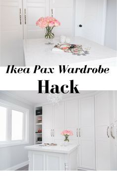 Ikea Pax Wardrobe Hack to create a beautiful walk-in dream closet!