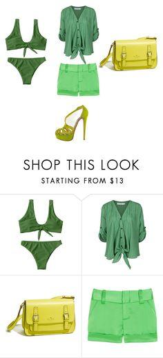 """Zaful bikini set 3"" by sarka-nin550 ❤ liked on Polyvore featuring Elie Saab, Christian Louboutin, Kate Spade and Alice + Olivia"