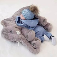 You and your little on will absolutely love this amazing Baby Elephant Pillow. It also makes the perfect baby shower gift! Features: High quality and unique des
