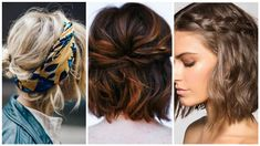 Rövid hajú hölgyek! Ezentúl felejtsétek el a mindennapos hosszú ideig tartó hajszárítást, hajformázást. Íme, 10 szuper ötlet, amellyel pillanatok alatt divatos frizurát varázsolhattok magatoknak. Sietős reggeleken különösen jól jöhetnek az 5 perces trendi frizuratippek. Dreadlocks, Hair Styles, Beauty, Fashion, Hair Plait Styles, Moda, Fashion Styles, Hair Makeup, Hairdos