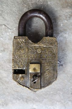 A Fabulous and Very Rare 19th Century Brass Padlock by Lallibhai